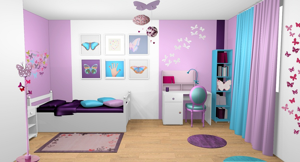 Rideaux chambre ado for Rideau rose chambre fille