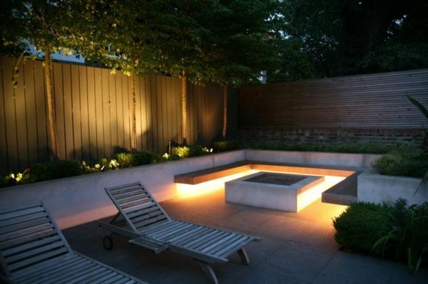 eclairage jardin moderne